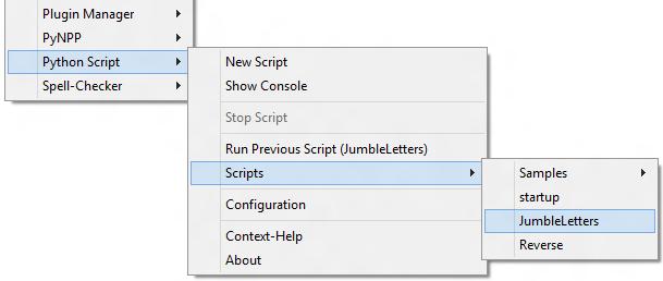 Python Script menu