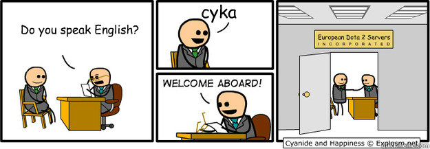 """'Do you speak English?' 'Сука!' 'Welcome aboard to Dota2 Europe"""